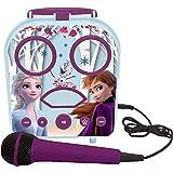 Lexibook- Disney La Reine des Neiges Elsa & Anna Mon Enceinte secrète Portable sans Fil, avec Microphone, Prise Jack, Ports T