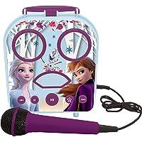 Lexibook- Disney La Reine des Neiges Elsa & Anna Mon Enceinte secrète Portable sans Fil, avec Microphone, Prise Jack…