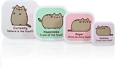 Thumbs Up Pusheen-KatzeSnackbox-Set, mehrfarbig