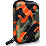 Tizum Global Electronic Travel Small Gadgets & Accessories Organizer Multipurpose Pouch (Camouflage Orange)