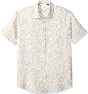 Essentials con due tasche in twill camicia da uomo a maniche corte