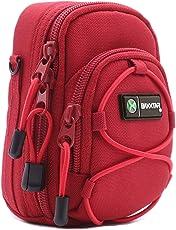Bundlestar Redstar V4 Kameratasche rot Größe (L) - Nikon Coolpix S9900 A900 - Panasonic Lumix DC TZ202 TZ91 DMC TZ101 LX15 - Canon SX730 SX740