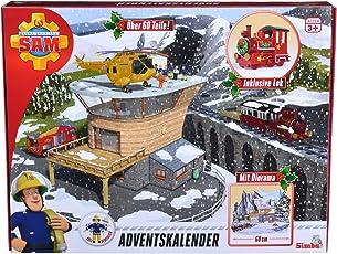Simba 109251037 Feuerwehrmann Sam 2018 Adventskalender, 47 x 37 x 6,5 cm