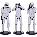Nemesis Now Original Stormtrooper Three Wise Sci-Fi Figurines, Blanco, 14 cm