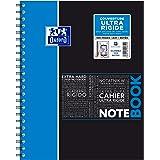 Oxford NoteBook Cahier à Spirales A4+ 160 Pages Grands Carreaux Seyès Couverture Polypro Couleur Aléatoire