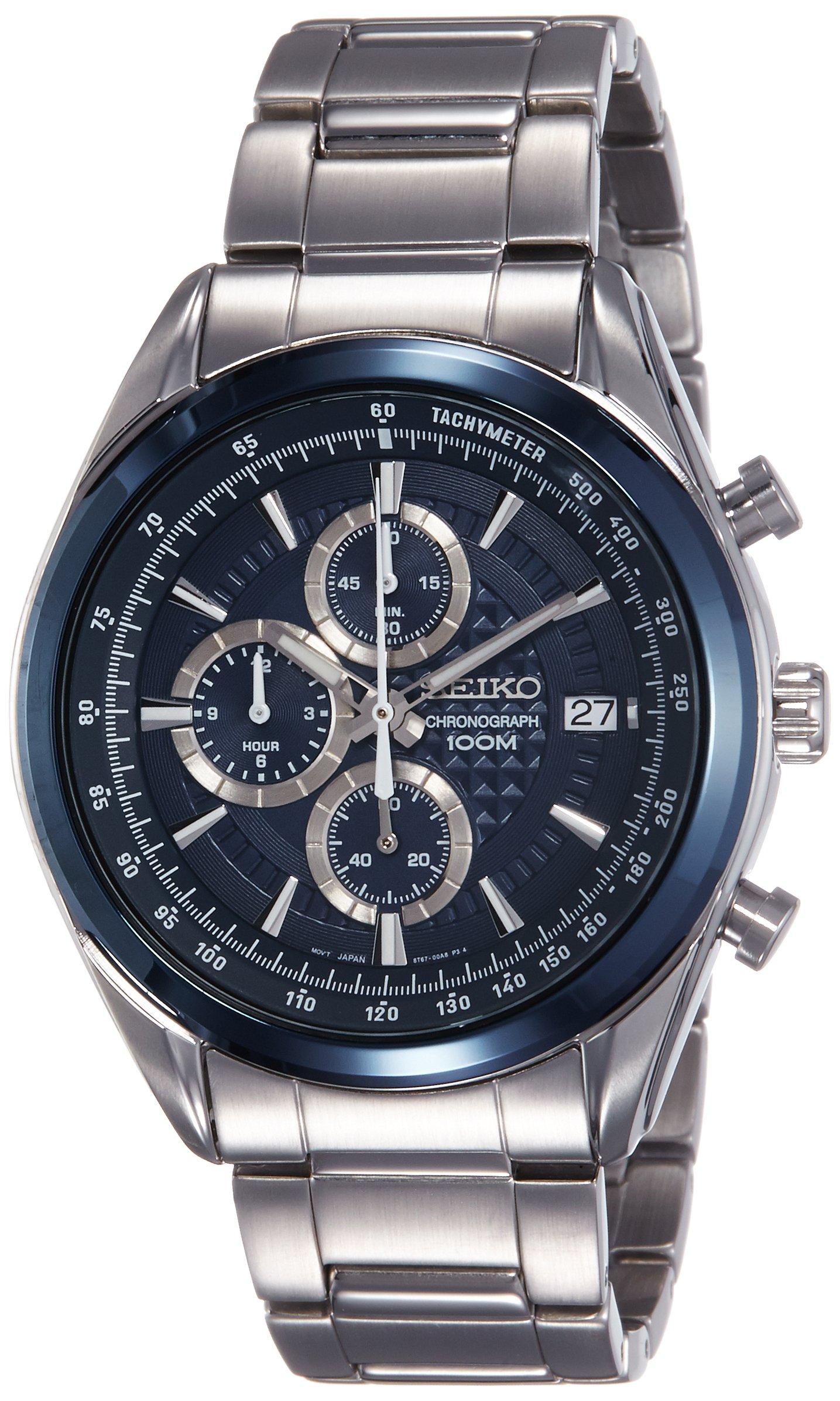 Seiko Dress Analog Blue Dial Men's Watch-SSB177P1