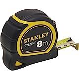 Stanley 0-30-657 Mètre 8 M X 25 Mm Bi Matière Tylon - Boitier Ergonomique - Ruban En Acier Laqué - Crochet Deux Rivets - Posi