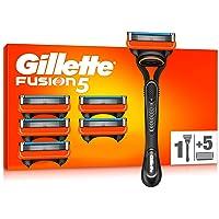 Gillette Fusion 5 Rasoir Homme + 5 Lames de Recharges [OFFICIEL]