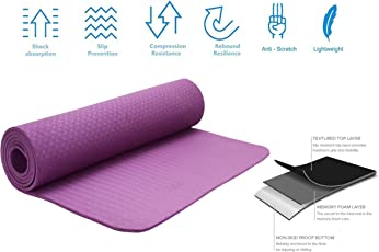 Strauss TPE Eco-Friendly Yoga Mat, 6mm
