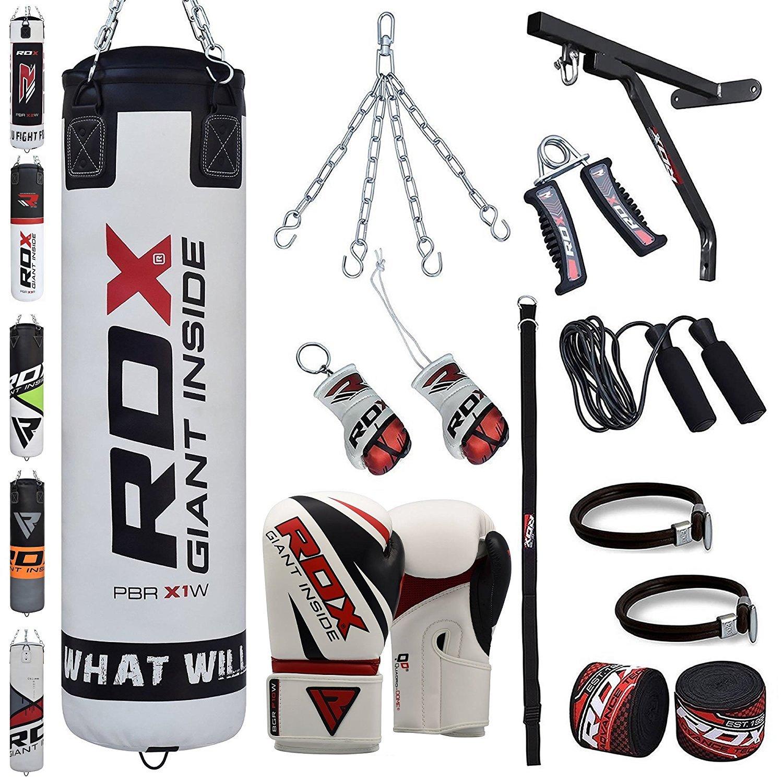 RDX Boxsack Set Gefüllt Kickboxen MMA Kampfsport Muay Thai 17 PC Schwer