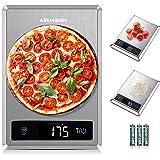 AIRMSEN Bilancia da cucina digitale con funzione tara, 11lb 304 Bilancia per alimenti in acciaio inossidabile, 5 unità di pes