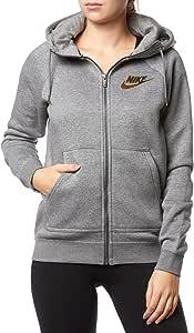 Nike W NSW Rally Hoodie Fz Metallic Veste Femme: