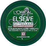 L'Oréal Paris Elvive Phytoclear Pre-Shampoo Esfoliante per la Cute, Scrub Purificante - 150 ml