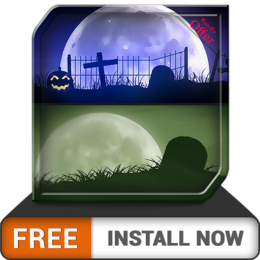 Spooky Graveyard HD - Decor your Halloween Party with Creepy Horror TV Theme (Halloween Haunted Graveyard)