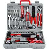 FIXKIT 555 Pcs Kit Coffret d'outils Outils de Ménage, Kit Outils de Main Mallette à outils