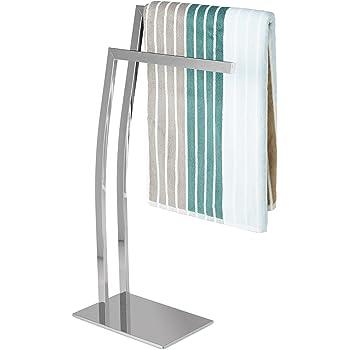handtuchst nder freistehend verchromt mit 2 aufh ngeh hen 94 cm hoch baumarkt. Black Bedroom Furniture Sets. Home Design Ideas
