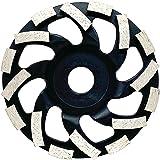 Fanztool Diamantslijpkop, 125 mm, met universele afzuigkap voor haakse slijper, met borstelkrans