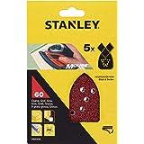 Stanley STA31039-XJ schuurpapier (korrel K60, extra grof gekorrel, met klittenband-Fix, geschikt voor Black+Decker compacte m