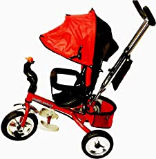 Nagar International Attractive Metal Baby Tricycle, 2-7 Years (Red)