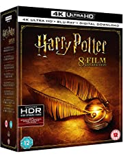 Harry Potter - All 8 Movies Collection from Years 1 to 7 (4K UHD + Digital Download) (16-Disc Box Set) (Region Free + Slipcover + Fully Packaged Import)
