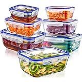 Magy Lot de Boîte Alimentaire Hermétique, Set de Recipient Plastique avec Couvercle étanche, Ensemble de Conteneur Alimentair