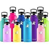 KollyKolla Botella de Agua Acero Inoxidable - 350/500/600/750ml/1L, Termo Sin BPA Ecológica Reutilizable, Botella Termica con