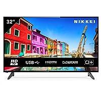 NIKKEI NH3214 81 cm/ 32 Zoll Fernseher (HD Ready, 1366 x 768, 1x SCART, 3X HDMI, 2X USB, VESA 200 x 100 mm, Wecker…