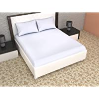 King Size Double Bed Mattress Protector 100% Waterproof Dust Proof Mattress Protector (White, 36 x 72)