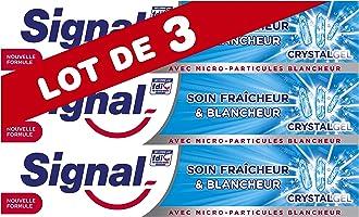 Signal Dentifrice Soin Fraîcheur & Blancheur Crystal Gel, Sensation Fraîcheur Intense et Durable, Fait Briller...