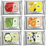 GINNI CLEA Cleansing & Make-up Remover Wipes (Rose,Lemon,Aloevera,Antiacne,Cucumber,Orange) (pack of 6) (10 wipes per…