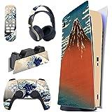 PlayVital Adesivo Skin per PS5 Console&Controller&Telecomando&Cuffie&Base di Ricarica Pelle Cover per Dualsense Sticker Decal