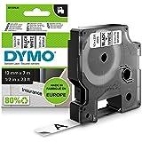 DYMO D1-etiketten zelfklevend (zwarte print op witte ondergrond, 12 mm x 7 m, voor LabelManager-etikettenprinter, authentiek