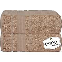 Eono by Amazon, Ensemble de draps de Bain - Paquet de 2, (35 x 71 Pouces) | Super Doux très Absorbant | Serviettes de…