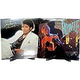 Hudson Hi-Fi BENDYY Desktop Vinyl Record Display Stand Contemporary LP Album Holder - Silver - 2 Pack