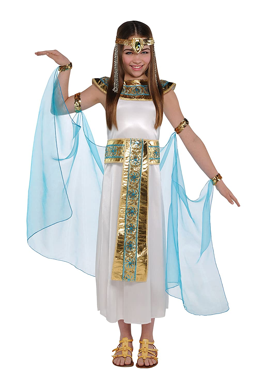 girls cleopatra fancy dress kids egyptian queen costume kids