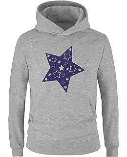 Blue Seven M/ädchen Sweatshirt mit Kapuze Maglia a Maniche Lunghe Bambina
