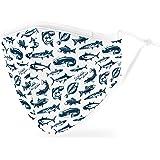 Weddingstar Maschera facciale in tessuto lavabile per adulti Copertura protettiva in tessuto riutilizzabile e regolabile con