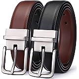 BULLIANT Cintura Uomo, Cintura Reversibile di Pelle 31mm Confezione Regalo,Dimensioni Regolabili