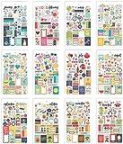 Simple Stories 7983 Planner Essentials Mini Stickers, Multi-Colour