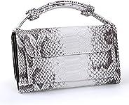 KULERB Shoulder Bag Fashion Snakeskin HandBag for Women Crossbody Bag Ladies Simple Modern Classic Design Totes with Chain
