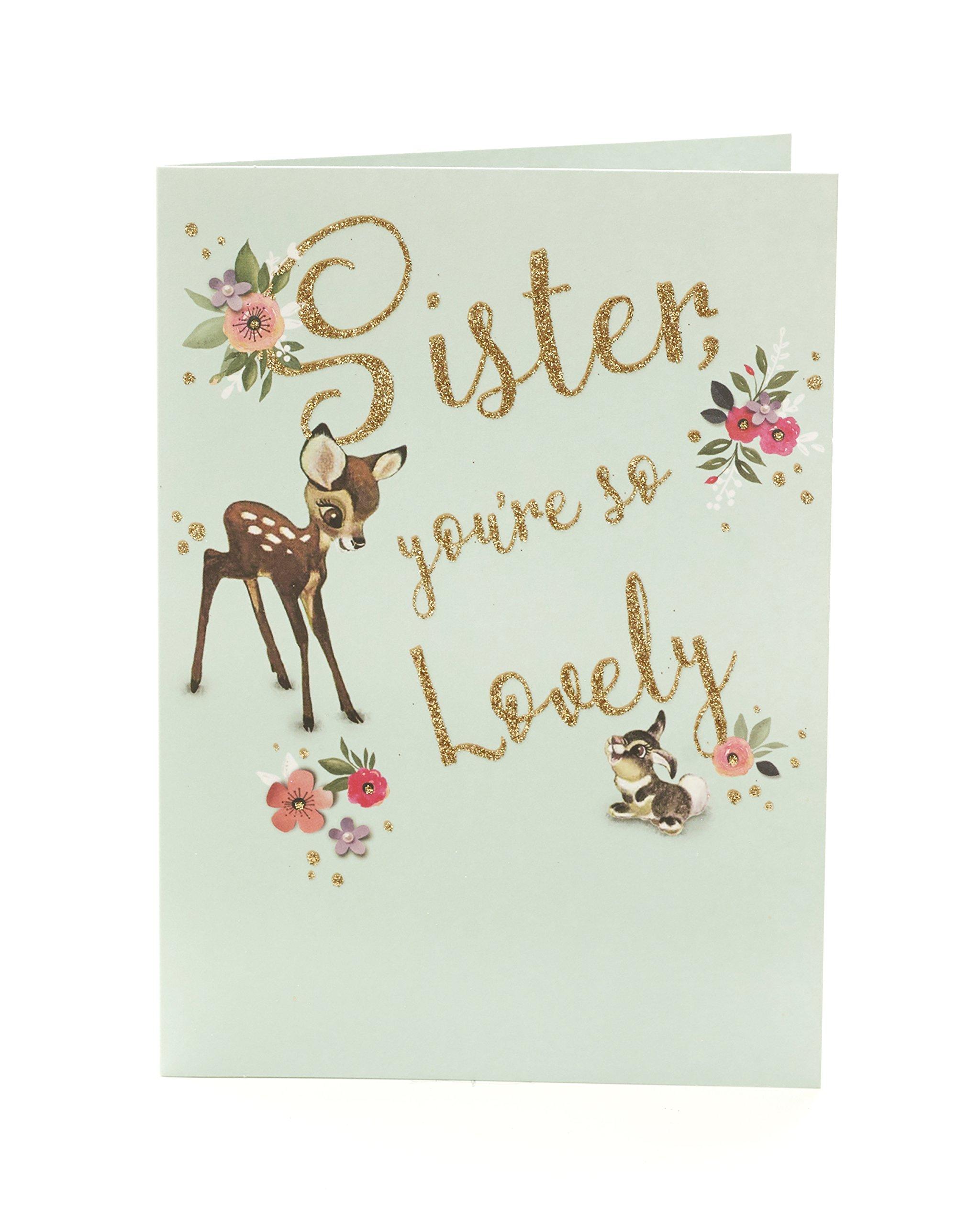 Carlton 603880-0Disney Bambi und Klopfer Schwester Geburtstagskarte