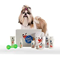 Captain Zack - The Shihtzu Groom Box – Ultimate 8 in 1, Head to Paw Groom-Kit for Your Dog (Shampoo + Conditioner + Dry…