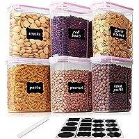 Vtopmart 2.5L Boite de Conservation Alimentaire sans BPA pour Cuisine Pantry, Ensemble De 6 + 24 Étiquettes, pour…
