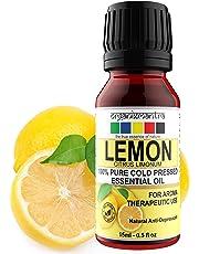 Organix Mantra Lemon Essential Oil Steam Distilled- 100% Pure, Natural, Therapeutic Grade (15ML)