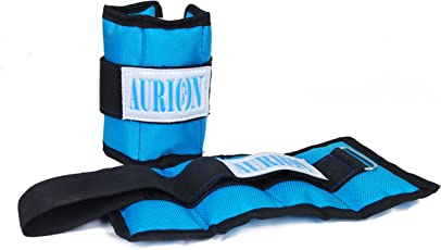 Aurion Wrist Weights 1 Kg x 2 Total 2 kg Home Gym Weight Bands perfect for fitness