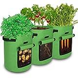 Sacchetti per Coltivazione Patate NASUM, Borsa per Piante, Piantapatate Sacchi, Materiale non Tessuto Addensato, Verde, 10 Ga