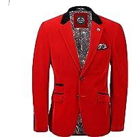 Mens Soft Velvet Blazer Vintage Styled Retro Smart Party Tailored Fit Evening Jacket