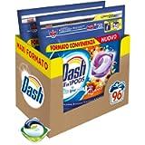 Dash All in 1 Pods Detersivo Lavatrice in Capsule, 96 Lavaggi (2 x 48), Ambra, Maxi Formato, Morbidezza e Protezione…