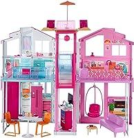 Barbie- Casa di Malibu con 4 Stanze, Ascensore e Tanti Accessori, 18 x 41 x 74.5 cm, DLY32