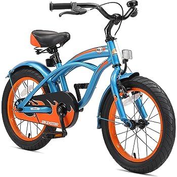 BIKESTAR Bicicleta infantil para niños y niñas | Bici 16 pulgadas | Color Azul | Frenos